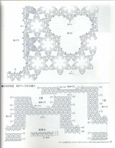 Ажурные топики крючком - схема