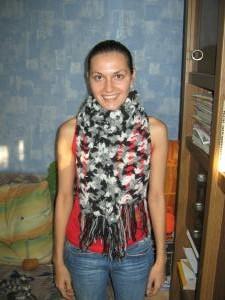 Вязаный шарф.